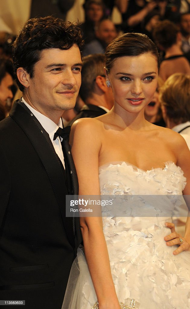 Orlando Bloom and Miranda Kerr attend 'Alexander McQueen: Savage Beauty' Costume Institute Gala on April 2, 2011 at the Metropolitan Museum of Art in New York City.