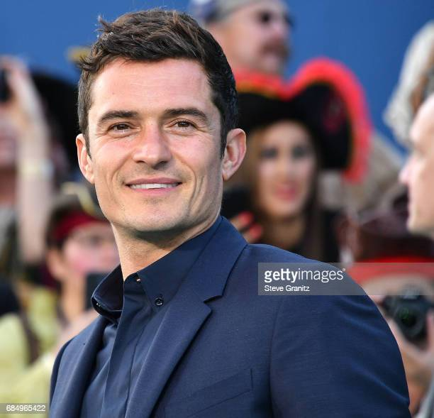 Orlando Bloom arrives at the Premiere Of Disney's 'Pirates Of The Caribbean Dead Men Tell No Tales' at Dolby Theatre on May 18 2017 in Hollywood...