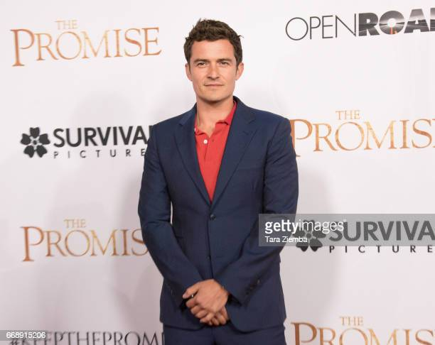 Orlando Bloom arrives to the Los Angeles premiere of 'The Promise' at TCL Chinese Theatre on April 12 2017 in Hollywood California