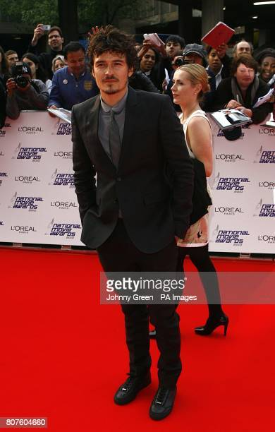 Orlando Bloom arriving for the 2010 National Movie Awards at the Royal Festival Hall London