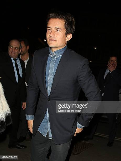 Orlando Bloom attending the Warner Music post BRIT awards party at The Freemasons Hall on February 25 2015 in London England