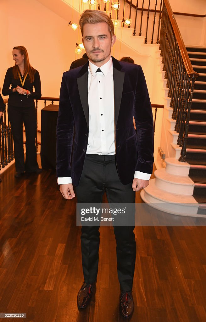 Orlando Bloom attends a cocktail reception at The 62nd London Evening Standard Theatre Awards, recognising excellence from across the world of theatre and beyond, at The Old Vic Theatre on November 13, 2016 in London, England.