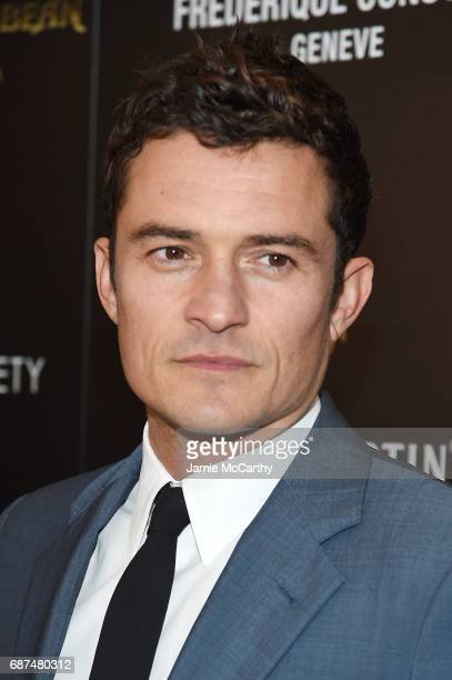 Orlando Bloom attends a screening of 'Pirates Of The Caribbean Dead Men Tell No Tales' hosted by The Cinema Society at Crosby Street Hotel on May 23...