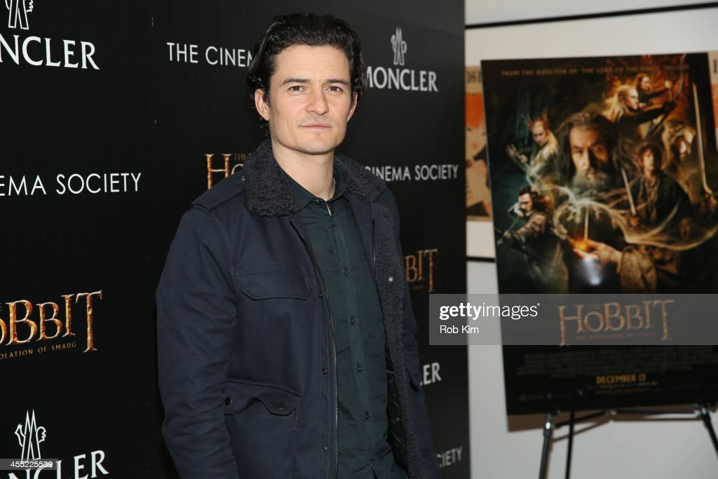 <a gi-track='captionPersonalityLinkClicked' href=/galleries/search?phrase=Orlando+Bloom&family=editorial&specificpeople=202520 ng-click='$event.stopPropagation()'>Orlando Bloom</a> attends New Line Cinema and MGM Pictures screening of 'The Hobbit: The Desolation Of Smaug' hosted by the Cinema Society and Monclear at Time Warner Screening Room on December 11, 2013 in New York City.