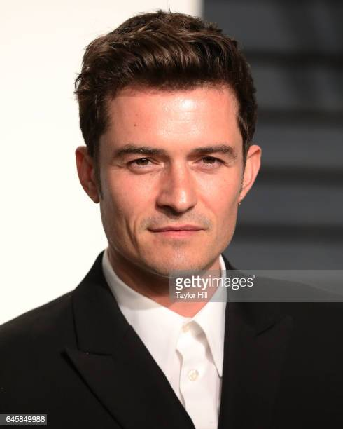 Orlando Bloom attends the 2017 Vanity Fair Oscar Party at Wallis Annenberg Center for the Performing Arts on February 26 2017 in Beverly Hills...