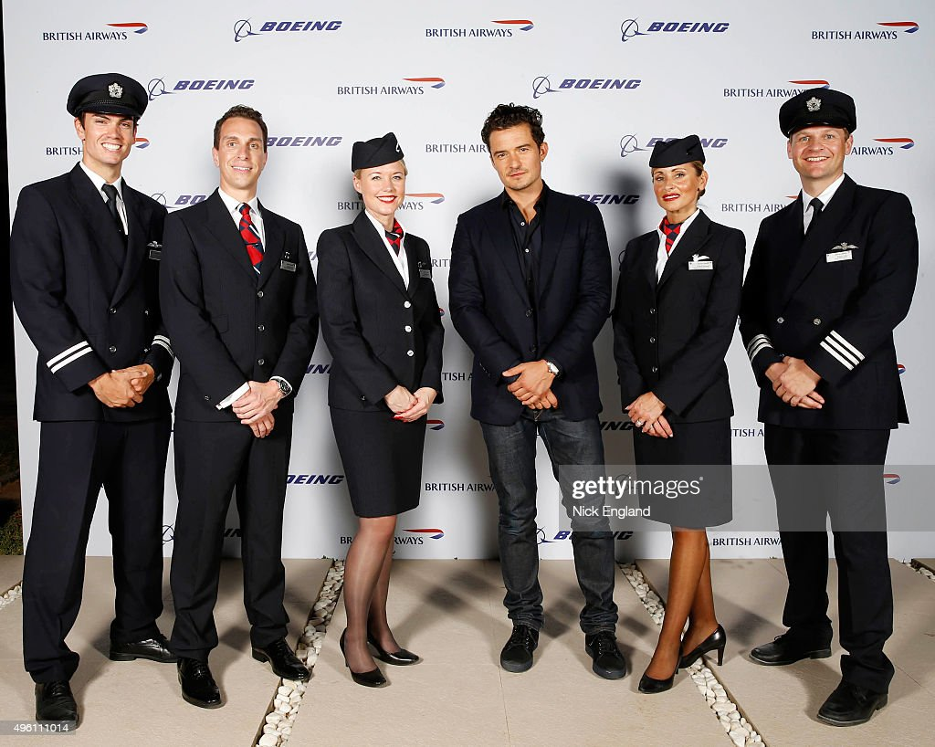 Orlando Bloom attends the British Airways celebration of the launch of its new Boing 7879 Dreamliner on its daily LondonAbu DhabiMuscat service...