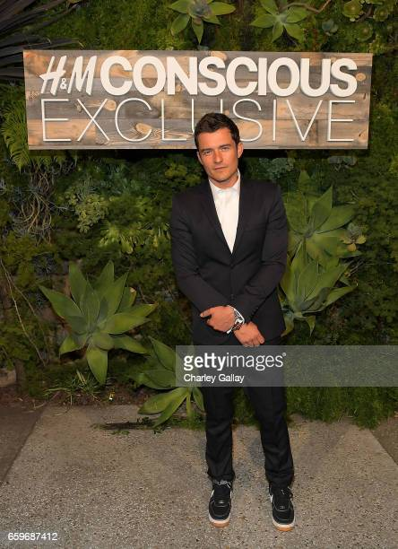 Orlando Bloom attends the HM Conscious Exclusive Dinner at Smogshoppe on March 28 2017 in Los Angeles California