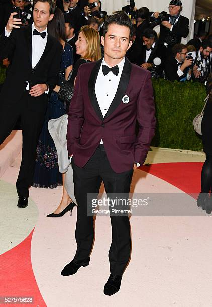Orlando Bloom attends the 'Manus x Machina Fashion in an Age of Technology' Costume Institute Gala at the Metropolitan Museum of Art on May 2 2016 in...