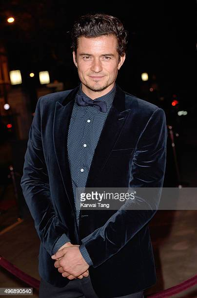 Orlando Bloom attends the Park Theatre Annual Gala Dinner at Stoke Newington Town Hall on November 12 2015 in London England