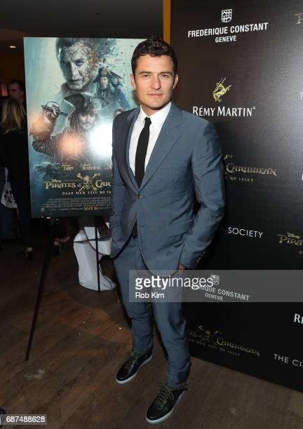 Orlando Bloom attends the screening for 'Pirates of The Caribbean Dead Men Tell No Tales' presented by Remy Martin at the Crosby Street Hotel on May...