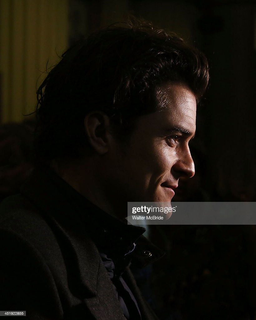 Orlando Bloom attends the 'Waiting For Godot' Opening Night at the Cort Theatre on November 24, 2013 in New York City.