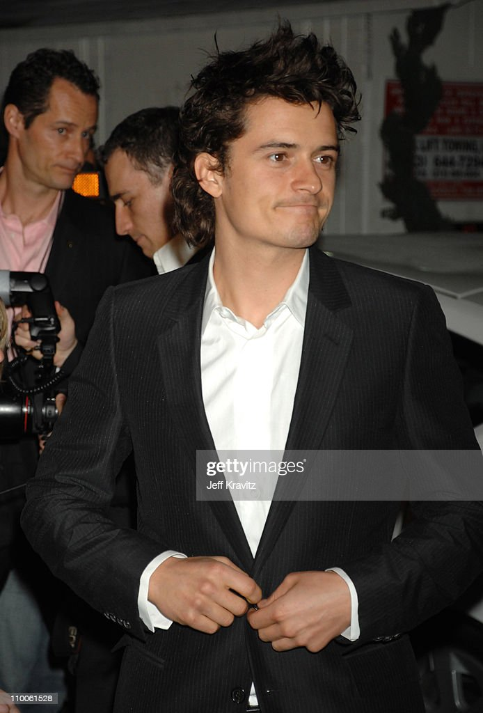 Orlando Bloom during Global Green USA 2007 PreOscar Celebration to Benefit Global Warming Arrivals at The Avalon in Hollywood California United States