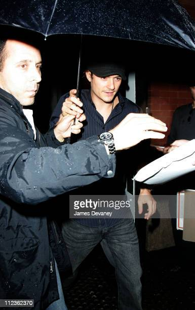 Orlando Bloom during Kate Bosworth and Orlando Bloom Sighting In New York City June 29 2006 at Streets of Manhattan in New York City New York United...