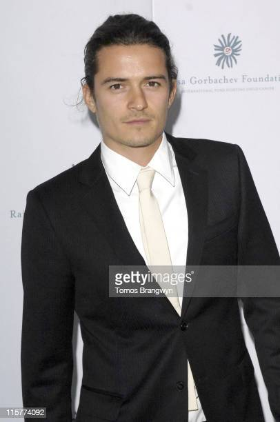 Orlando Bloom during Raisa Gorbachev Foundation – Arrivals at Althorp in Althorp Northamptonshire Great Britain