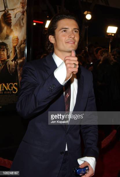Orlando Bloom during 'The Lord Of The Rings The Return Of The King' Los Angeles Premiere at The Mann Village Theatre in Westwood California United...