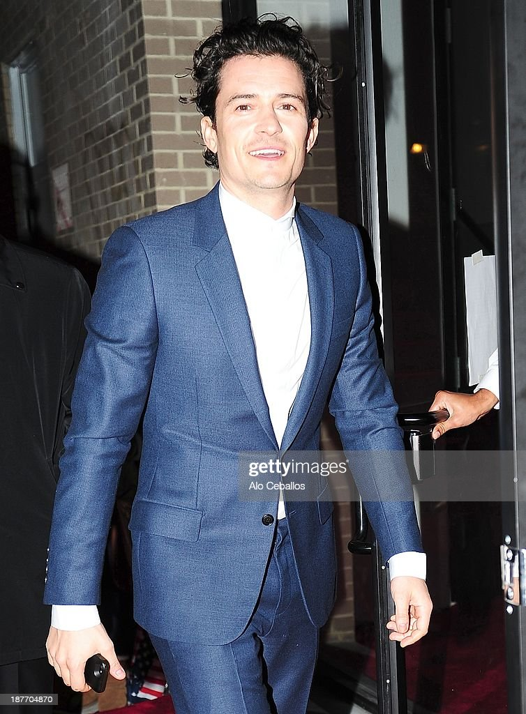 <a gi-track='captionPersonalityLinkClicked' href=/galleries/search?phrase=Orlando+Bloom&family=editorial&specificpeople=202520 ng-click='$event.stopPropagation()'>Orlando Bloom</a> is seen arriving at CFDA awards on November 11, 2013 in New York City.