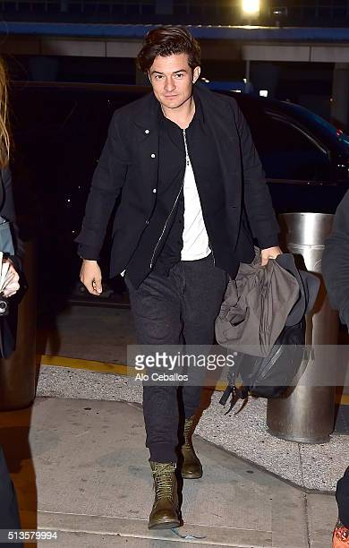 Orlando Bloom is seen at JKF airport on March 3 2016 in New York City