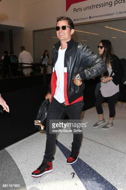 Orlando Bloom is seen at LAX on May 09 2017 in Los Angeles California