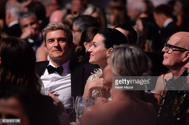 Orlando Bloom Katy Perry and Keith Hudson attend the 12th annual UNICEF Snowflake Ball at Cipriani Wall Street on November 29 2016 in New York City