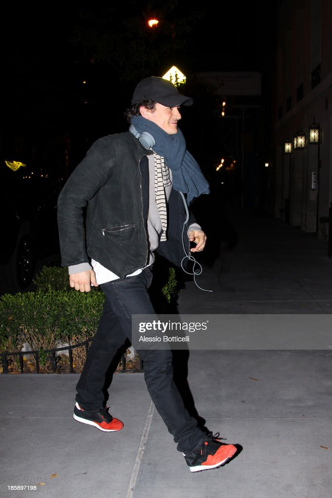Orlando Bloom seen on the streets of lower Manhattan on October 25, 2013 in New York City. Bloom, who is currently starring in 'Romeo & Juliet' on Broadway, and his model wife Kerr announced today in a joint statement that they have amicably separated.