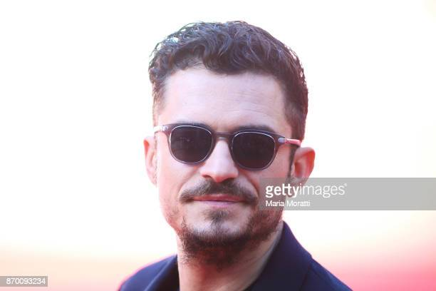 Orlando Bloom walks a red carpet for 'Romans' during the 12th Rome Film Fest at Auditorium Parco Della Musica on November 4 2017 in Rome Italy