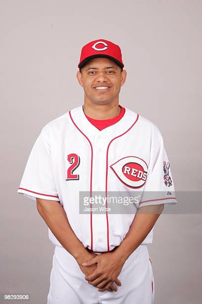 Orlando Cabrera of the Cincinnati Reds poses during Photo Day on Wednesday February 24 2010 at Goodyear Ballpark in Goodyear Arizona