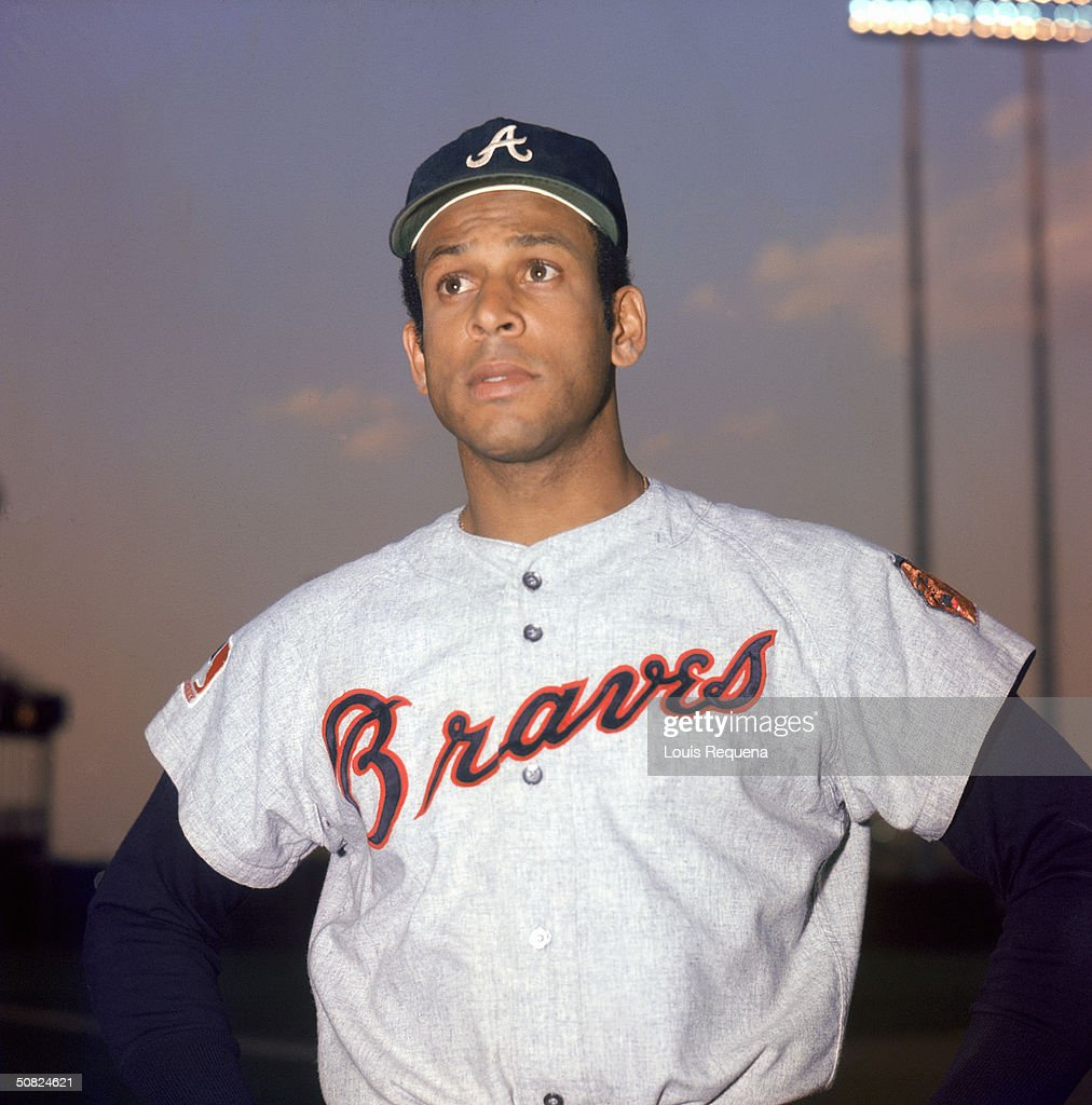 Orlando Cepeda of the Atlanta Braves poses for a portrait Cepeda played for the Braves from 19691972