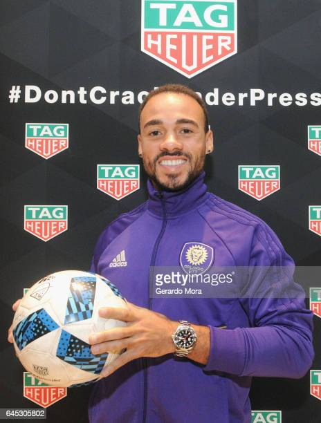 Orlando City soccer player Kevin Alston attends the TAG Heuer Icon Challenge at the TAG Heuer Boutique on February 25 2017 in Orlando Florida