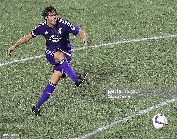 Orlando City's Kaka moves the ball against the Chicago Fire at the Orlando Citrus Bowl on Saturday Aug 29 2015 The game ended in a 11 draw