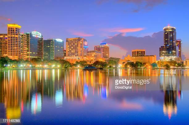 Orlando Cityscape across Lake Eola