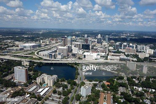 Horizonte De La Ciudad De Orlando Florida Foto De Stock