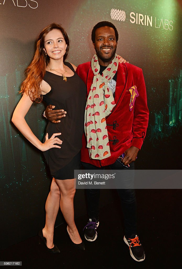 Orlando Hamilton (R) attends as SIRIN LABS Launches SOLARIN at One Marylebone on May 31, 2016 in London, England.