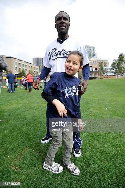 Orlando Hudson and the CATCH Foundation host a day at the park at PETCO Park on April 7 2011 in San Diego California