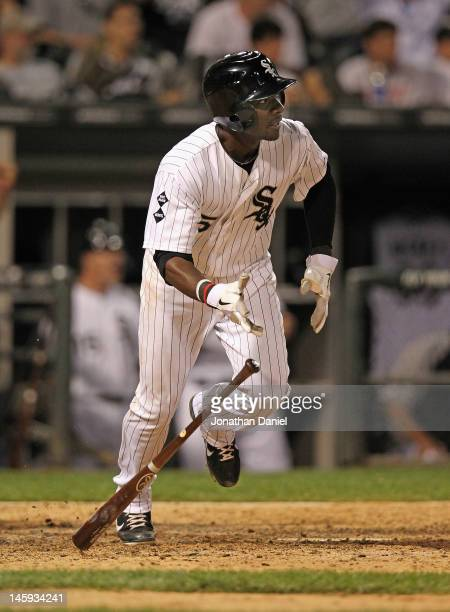 Orlando Hudson of the Chicago White Sox gets the gamewinning hit in the bottom of the 9th inning against the Toronto Blue Jays at US Cellular Field...