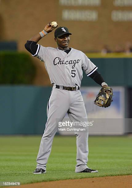Orlando Hudson of the Chicago White Sox looks on during the game against the Detroit Tigers at Comerica Park on September 2 2012 in Detroit Michigan...
