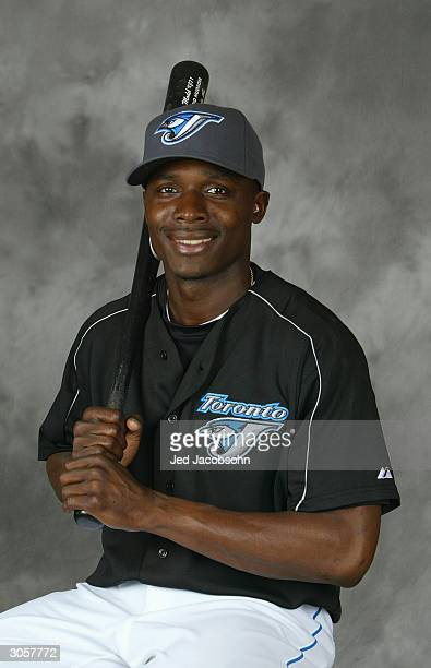 Orlando Hudson of the Toronto Blue Jays poses for a portrait during Photo Day at their spring training facility on March 1 2004 in Duneiden Florida