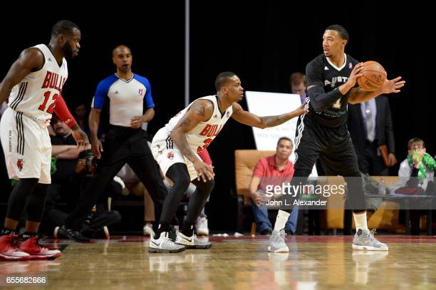 Orlando Johnson of the Austin Spurs looks to pass the ball against the Windy City Bulls during a NBA DLeague game on March 17 2017 at the Sears...