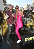 Orlando Jones Joins Fans on SYFY's Karaoke Bus at San...
