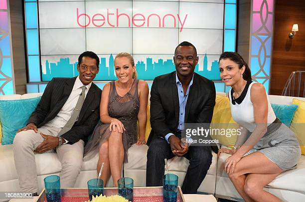 Orlando Jones Kendra Wilkinson Brian McKnight and Bethenny Frankel on the set of 'Bethenny' with special guests Jason Biggs Jenny Mollen Orlando...