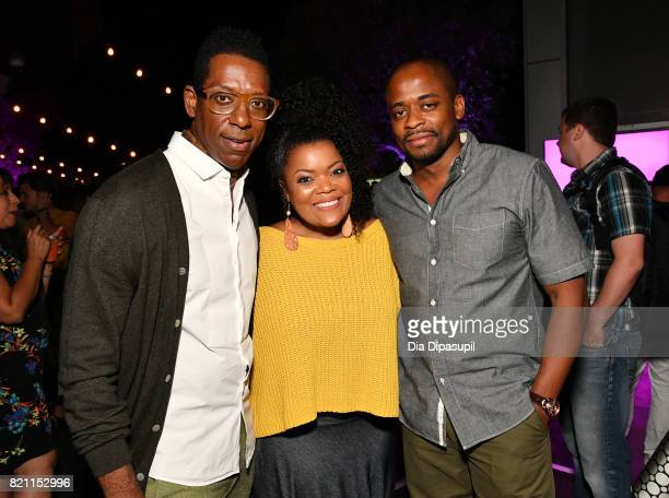 Orlando Jones Yvette Nicole Brown and Dule Hill at Entertainment Weekly's annual ComicCon party in celebration of ComicCon 2017 at Float at Hard Rock...