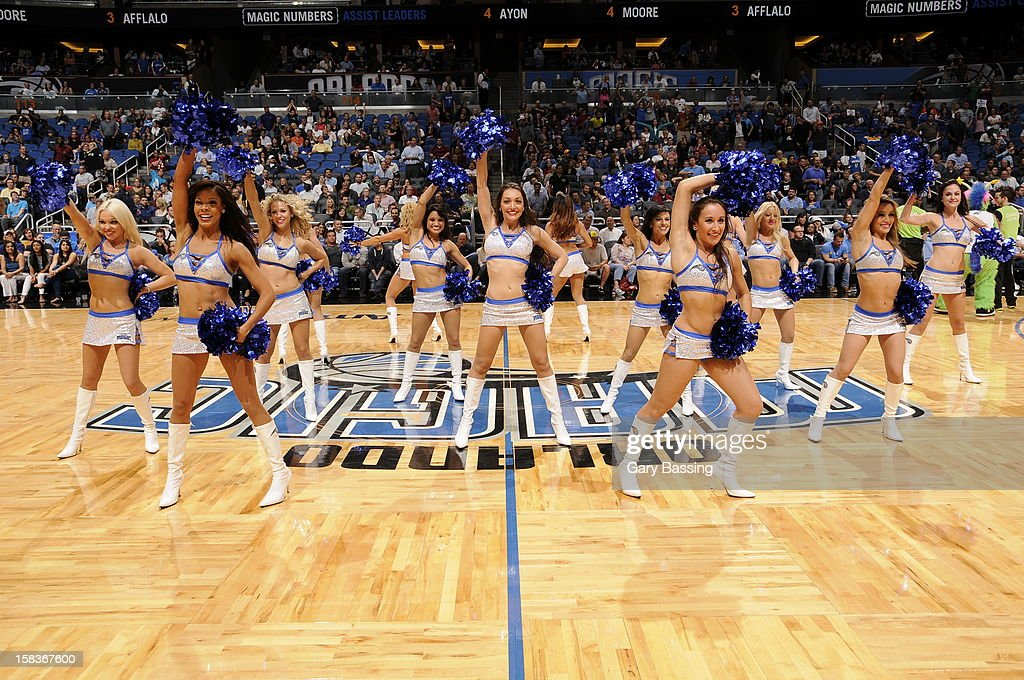 Orlando Magic dance team during the game against the Atlanta Hawks on December 12, 2012 at Amway Center in Orlando, Florida.