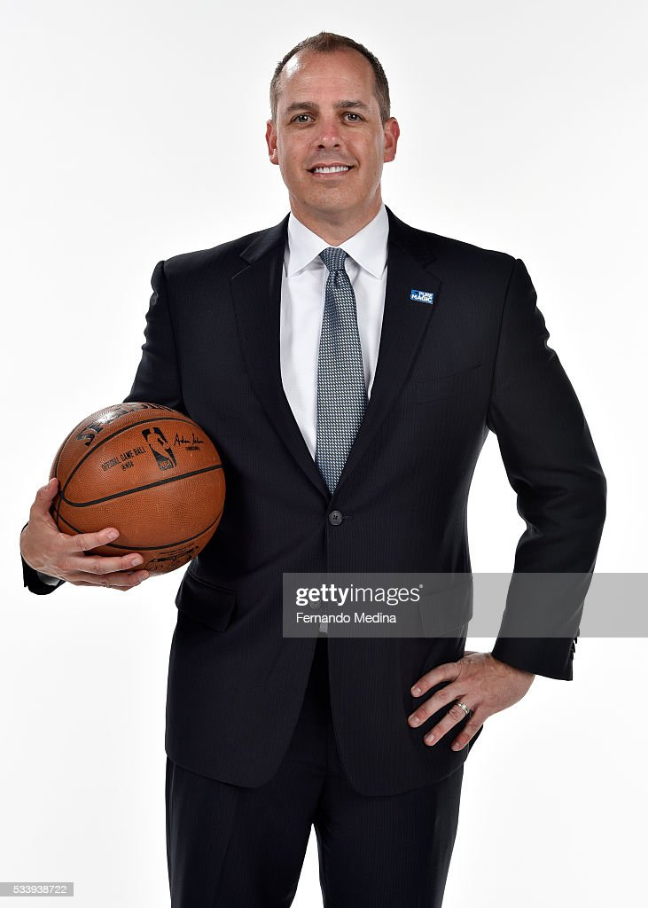 Orlando Magic head coach Frank Vogel poses for a portrait on May 23 2016 at Amway Center in Orlando Florida NOTE TO USER User expressly acknowledges...