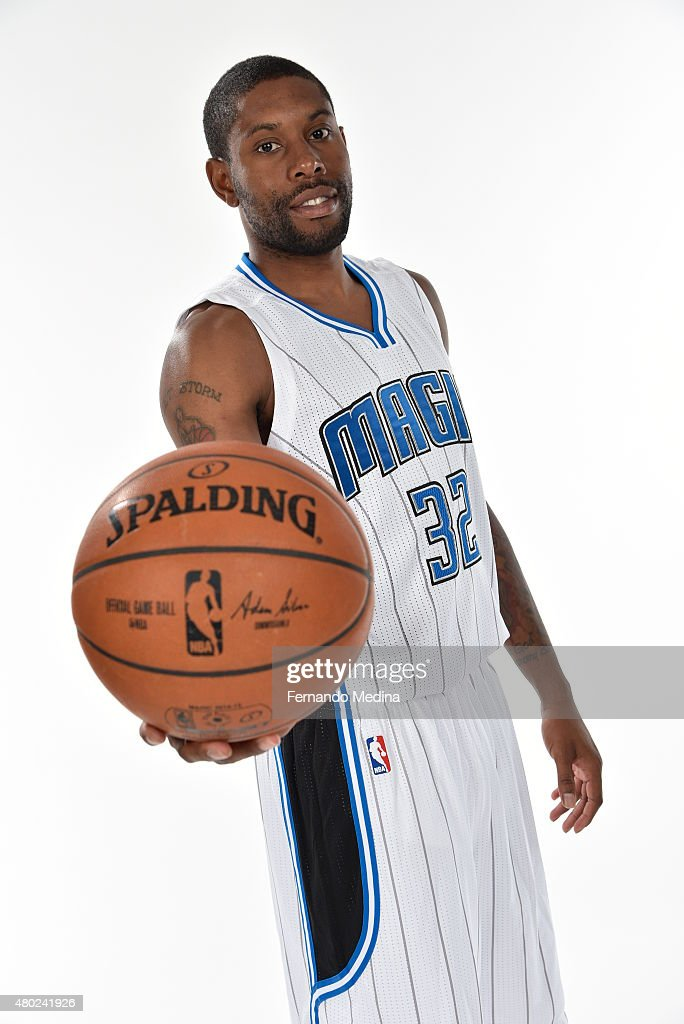 Orlando Magic player CJ Watson poses for a portrait on July 9 2015 at Amway Center in Orlando Florida NOTE TO USER User expressly acknowledges and...