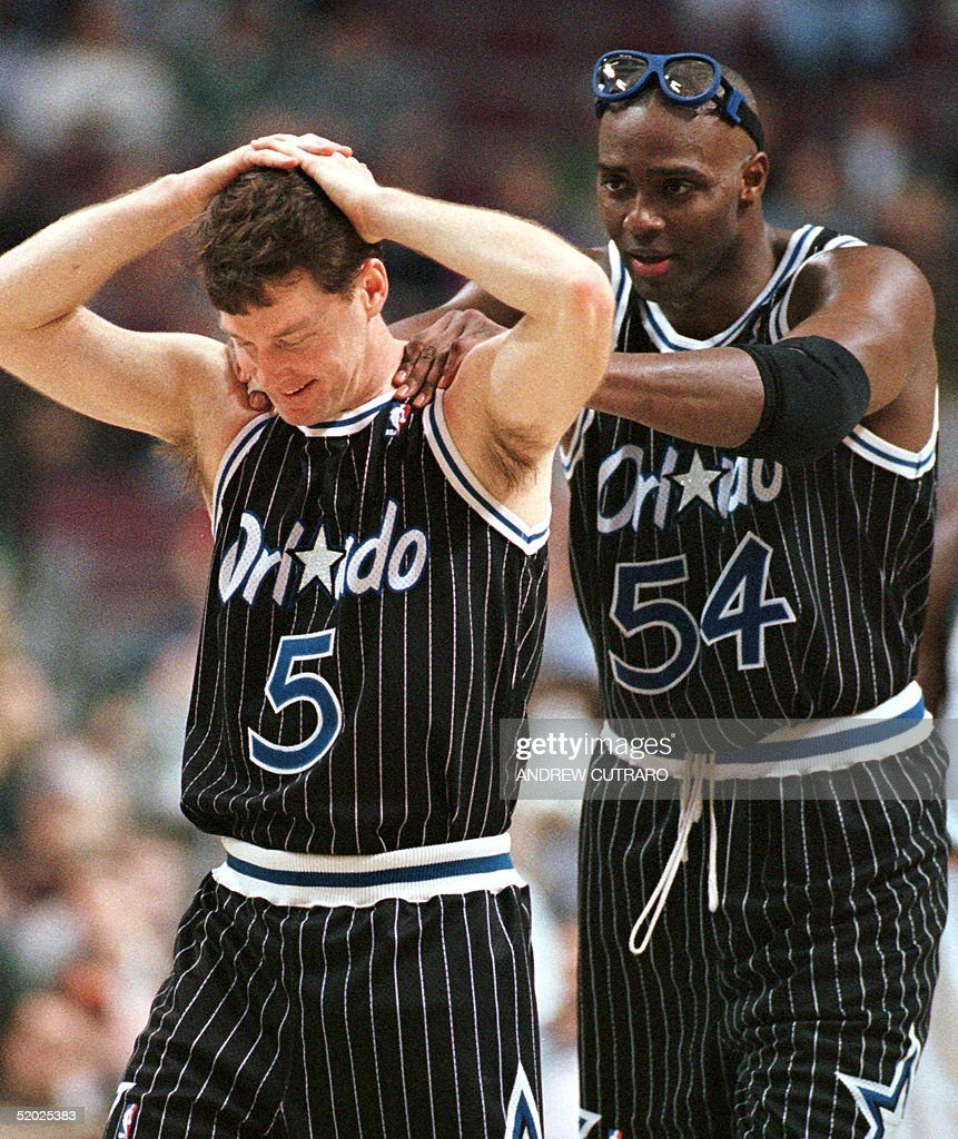 Orlando Magic players Mark Price L and Horace Gra