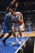 Orlando Magic power forward Ryan Anderson protects the ball during the game against the New Orleans Hornets on February 11 2011 at the Amway Center...