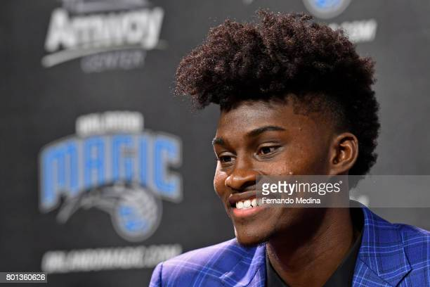 Orlando Magic President of Basketball Operations Jeff Weltman and Head Coach Frank Vogel introduce 2017 Magic Draft Picks Jonathan Isaac and Wesley...