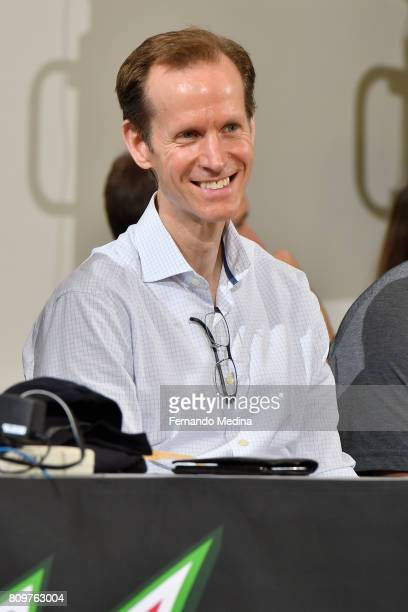 Orlando Magic President of Basketball Operations Jeff Weltman attends the Mountain Dew Orlando Pro Summer League game against the Charlotte Hornets...
