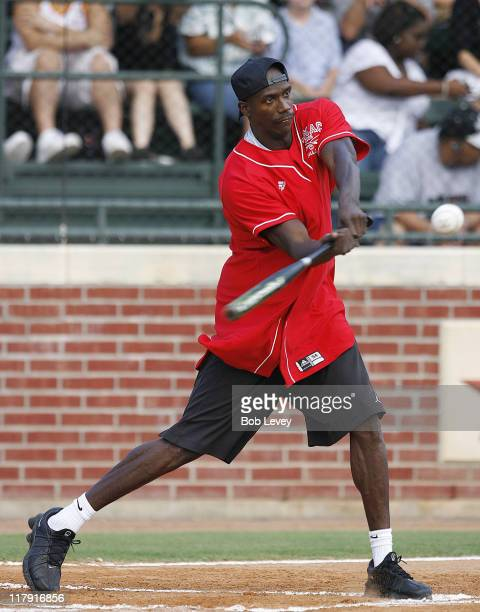 Orlando Magic's Bo Outlaw during the Tracy McGrady Foundation 2006 Softball Classic Aug 5 2006 in HoustonTx
