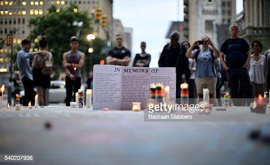 Orlando Massacre Vigil in Philadelphia, Pennsylvania