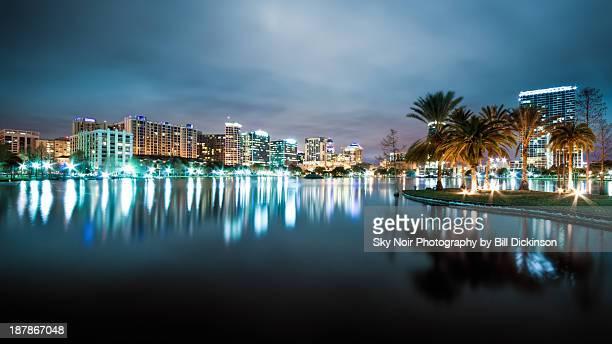 Orlando night cityscape